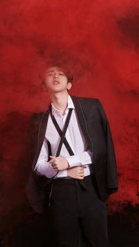 蔡徐坤 偶像 明星 艺人 歌手 红色