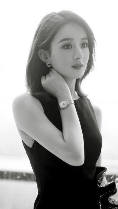 赵丽颖 演员 明星 艺人 黑白