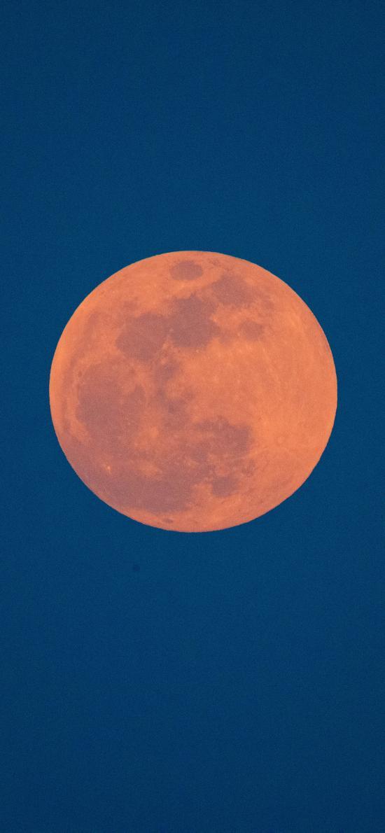 月球 星球 夜晚 圆