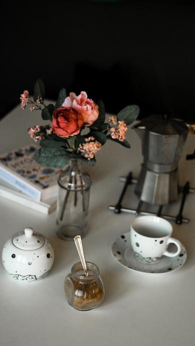 静物 插花 茶杯 茶叶 静物