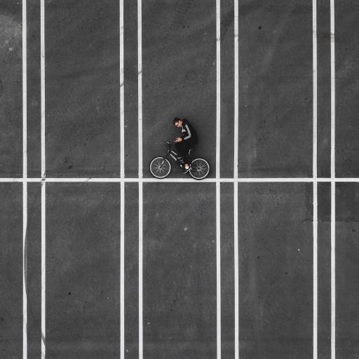 创意 写真 街道 单车 欧美男孩