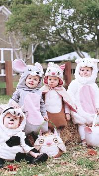 孩子 儿童 可爱 萌 欧美 花园