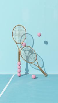 网球 球拍 球场 蓝色 运动