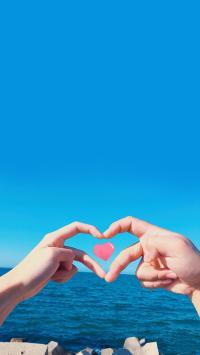 手势 情侣 比心 爱心