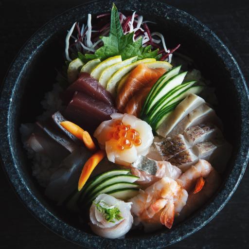 日式 美食 生鱼片 刺身