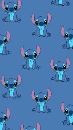 史迪仔 动画 平铺 蓝色 迪士尼 星际宝贝