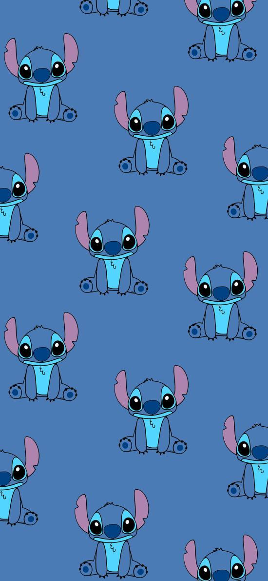 史迪仔 動畫 平鋪 藍色 迪士尼 星際寶貝