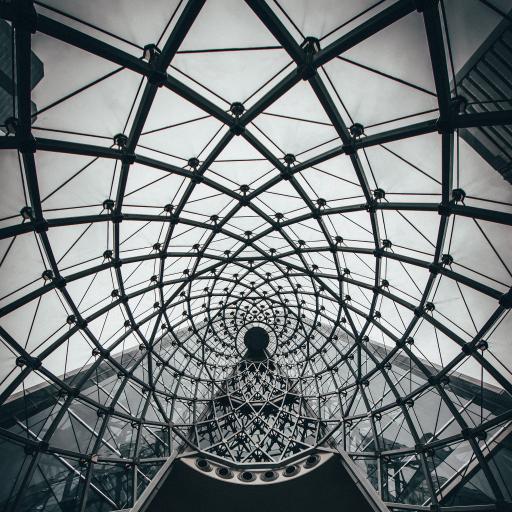 建筑 网状 空间 黑白