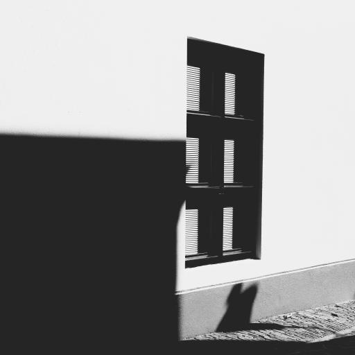 窗户 黑白 意境 唯美