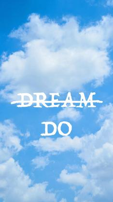 梦想 做 dream do 蓝天白云 太空 英文 英语