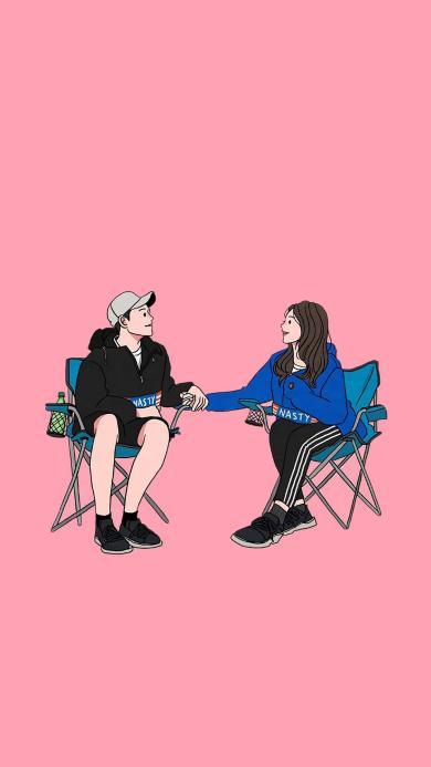 情侣 爱情 浪漫 粉色