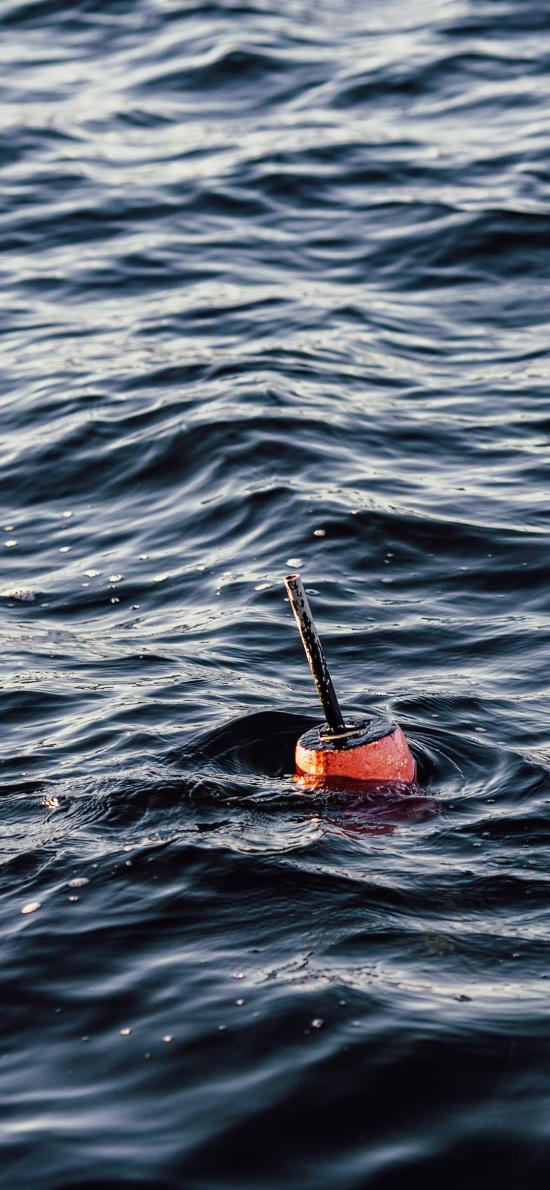海水 海浪 钓鱼 浮标 漂浮