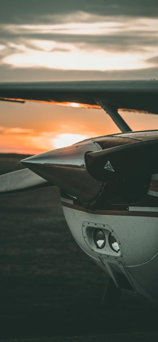 螺旋桨 滑翔机 机头 飞机