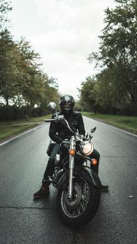 摩托车 街道 帅气 驾驶