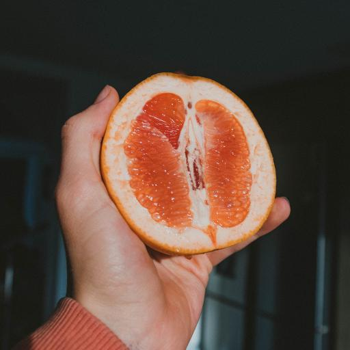 水果 西柚 手部 新鲜