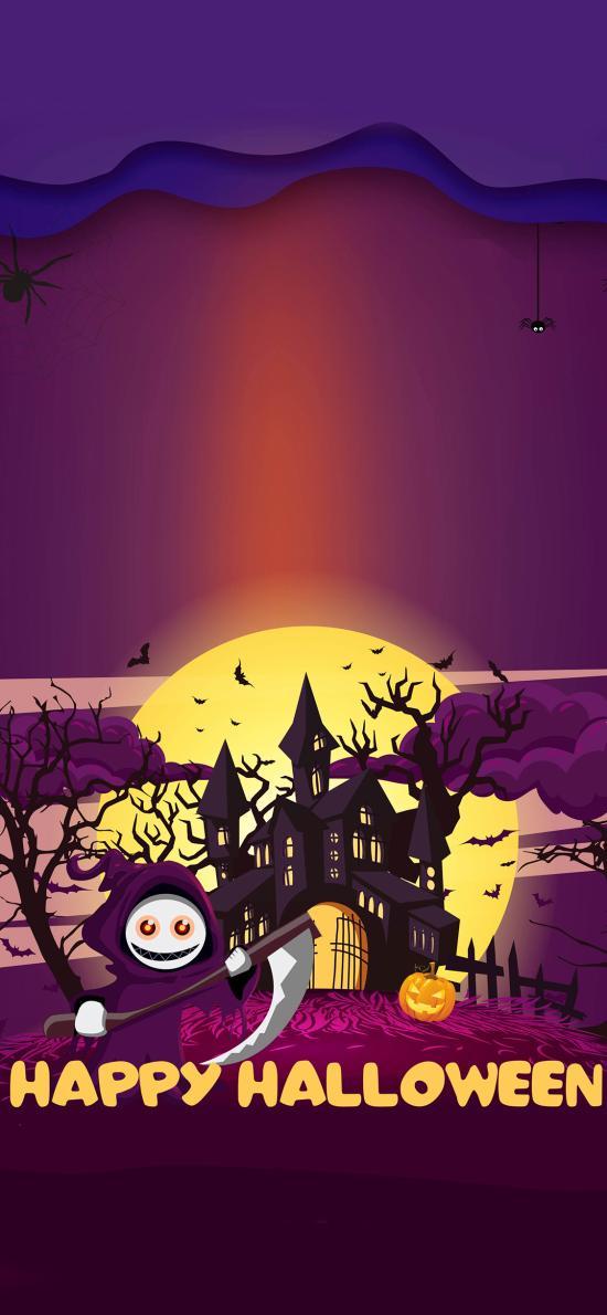 万圣节 happy Halloween 插画
