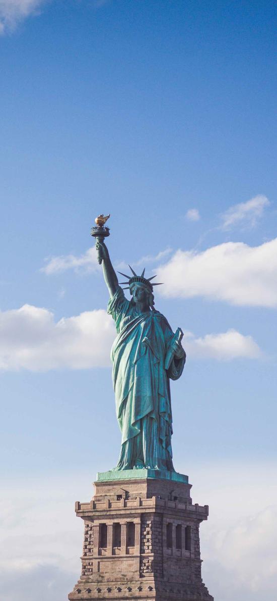 自由女神像 美国 纽约 雕塑 天空