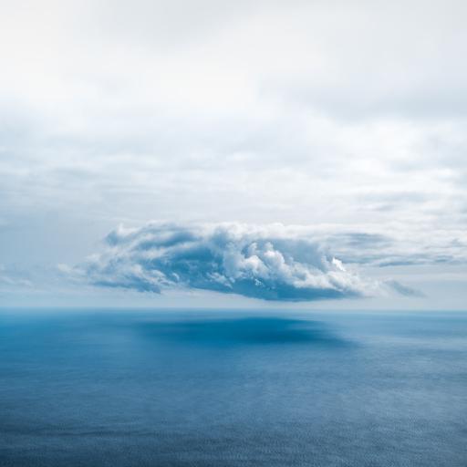 云层 大海 海平面