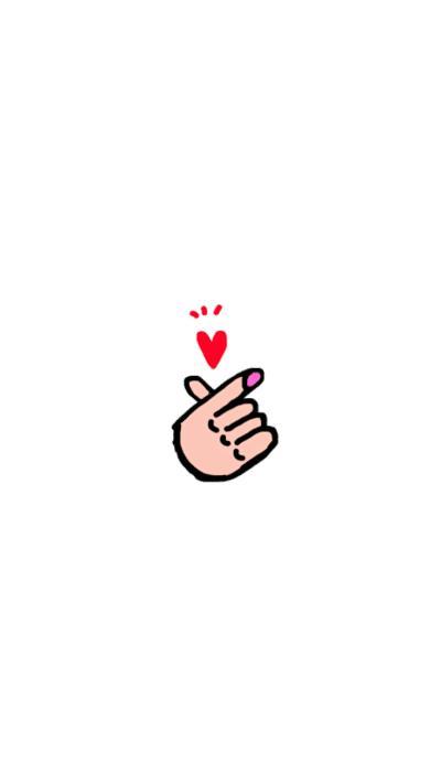 可爱 简约 爱心 手势 比心