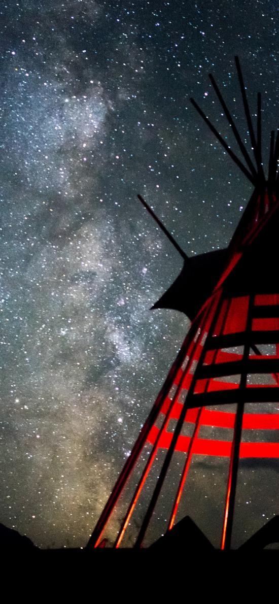 星空 梦幻 夜景 建筑