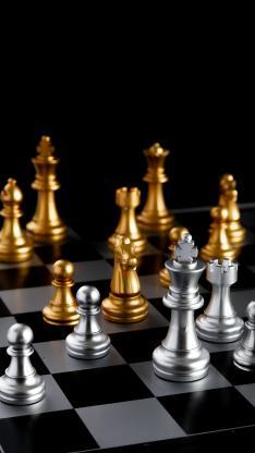 竞技 国际象棋 金属 对垒 休闲