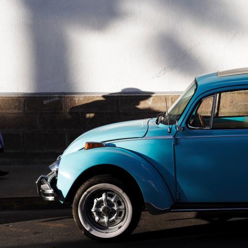 汽车 天蓝色 复古
