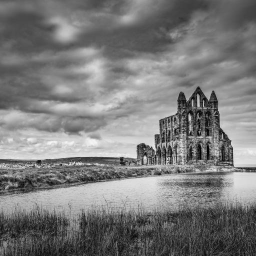 异域 欧式建筑 黑白 古迹