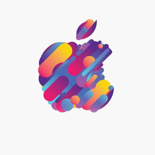 LOGO 色彩 简约 苹果 创意