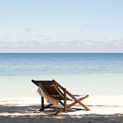 大海 海滩 躺椅 休闲