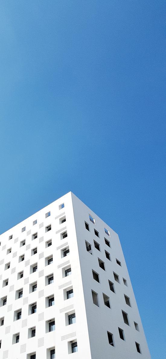 蓝天 建筑 高楼大厦 方正