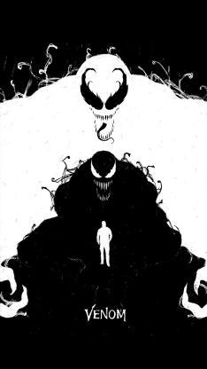 毒液 致命守护者 电影 科幻 欧美 水墨 黑白