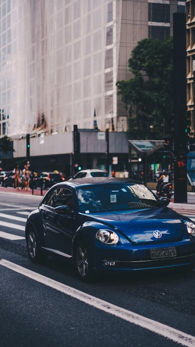 大众 轿车 汽车 道路