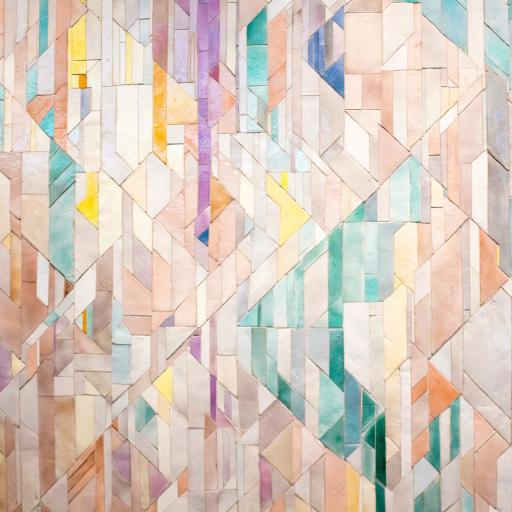 几何 切割 墙壁 渐变 色彩