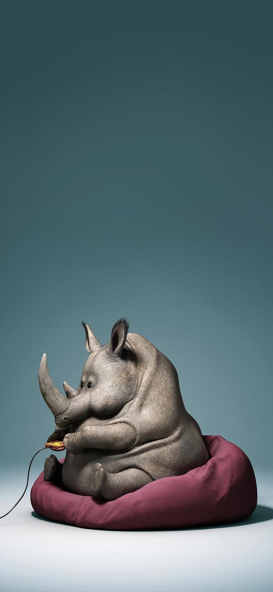 犀牛 卡通 手游  可爱