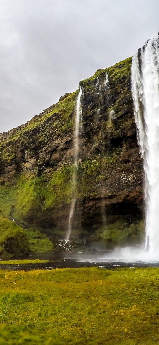 峭壁 瀑布山水