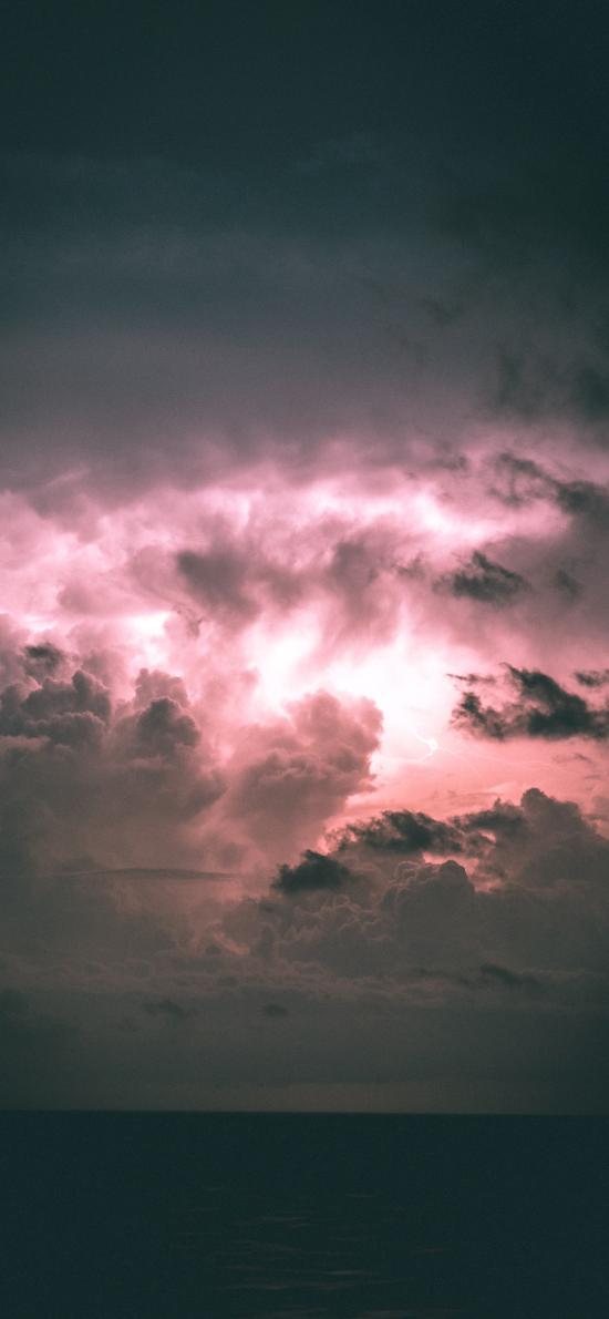 天空 海平线 云层 光亮