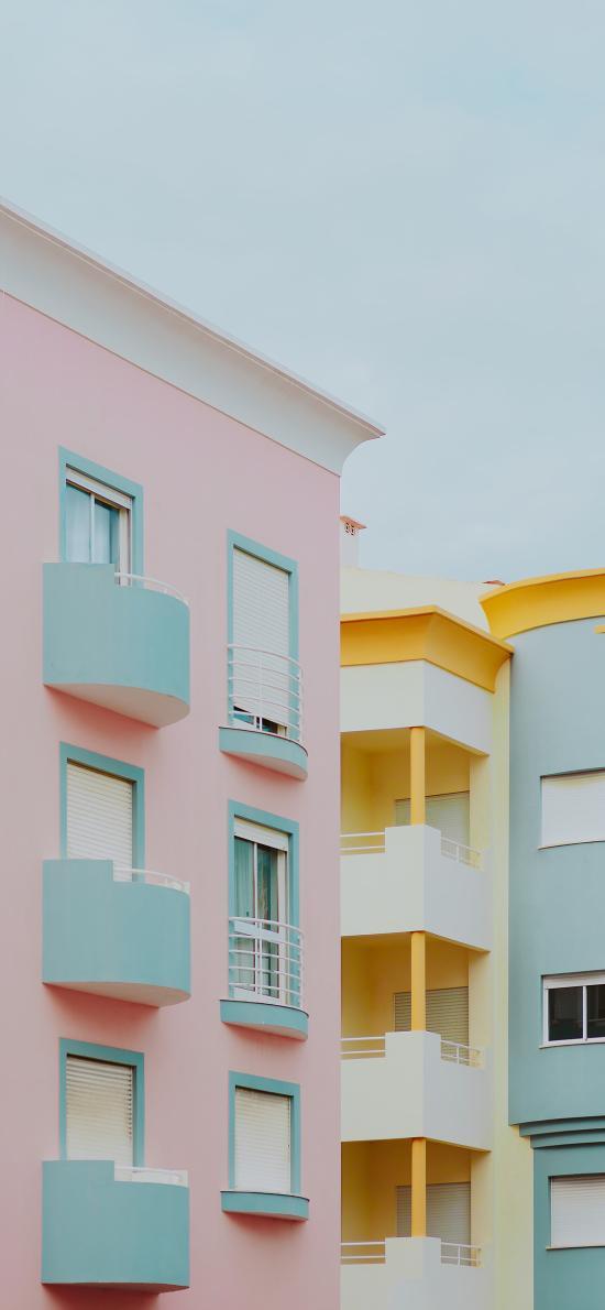 建筑 色彩 現代 樓房 房屋