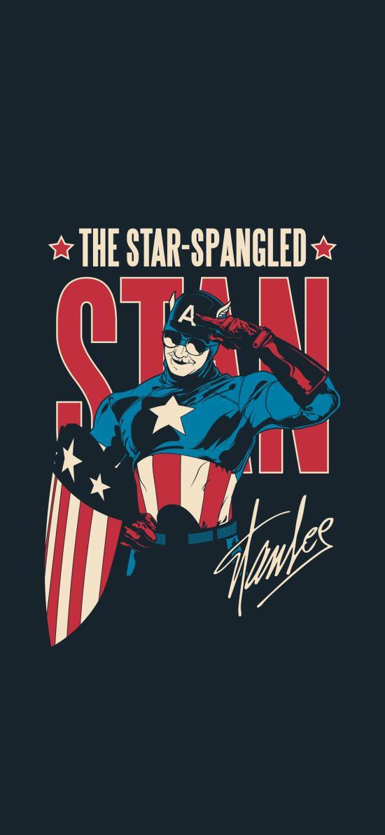 斯坦·李 Stan Lee 超级英雄 漫威 漫画 欧美 美国队长