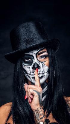 妆容 彩绘 人体 骨骼