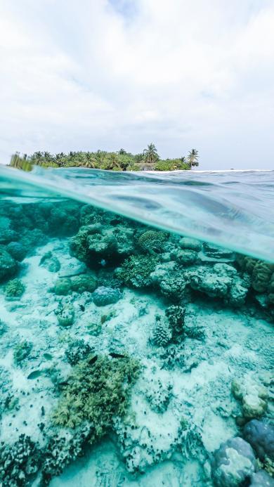 大海 海平面 海底 唯美