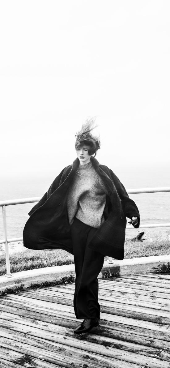 欧美 模特 写真 抓拍 黑白