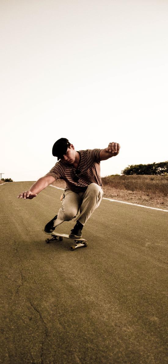 滑板 竞技 休闲 道路