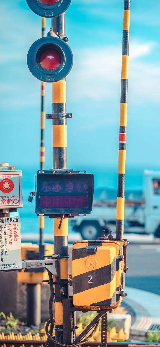 日本 蓝色 街道 城市 火车 列车