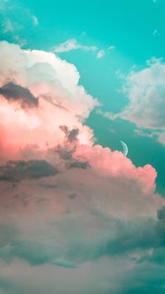 云层 彩霞 渐变 唯美