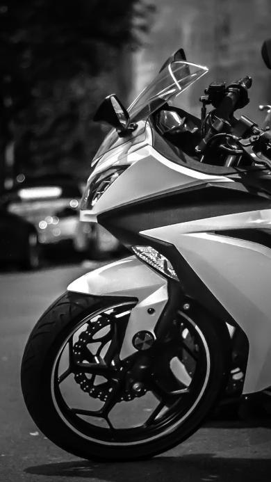 摩托车 灰白 机车 炫酷