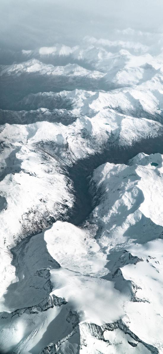 冬季 雪山 白雪覆蓋 壯觀