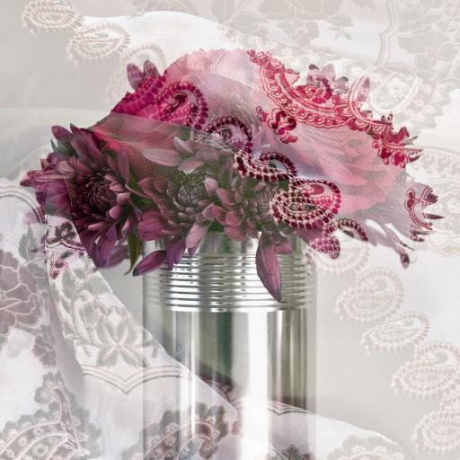 花瓶 濾鏡 鮮花 鐵桶