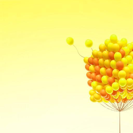 气球 黄色 鲜艳