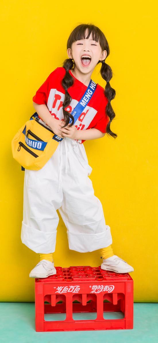 小女孩 儿童 时装 童模 色彩 欢乐