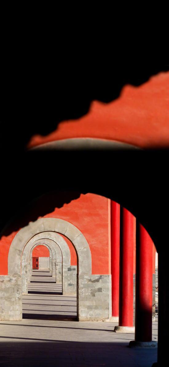 故宫 拱门 中国风 影子